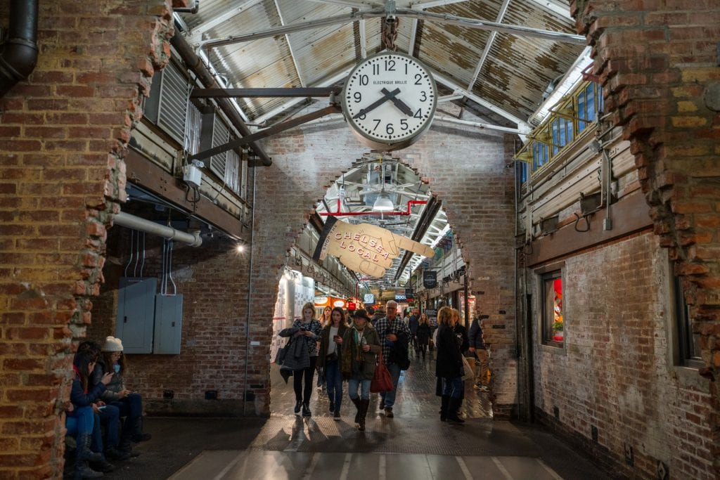 4 Day New York Itinerary: Chelsea Market Building with Clock
