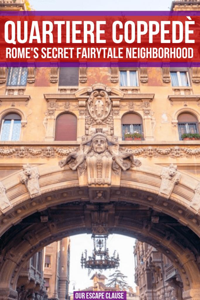 Discover Quartiere Coppedè, Rome's secret fairytale neighborhood! #rome #italy #roma #quartierecoppede #offbeatrome