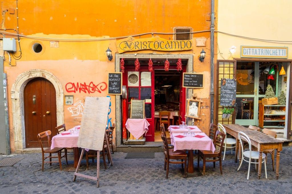 Trastevere Food Tour: Street in Trastevere