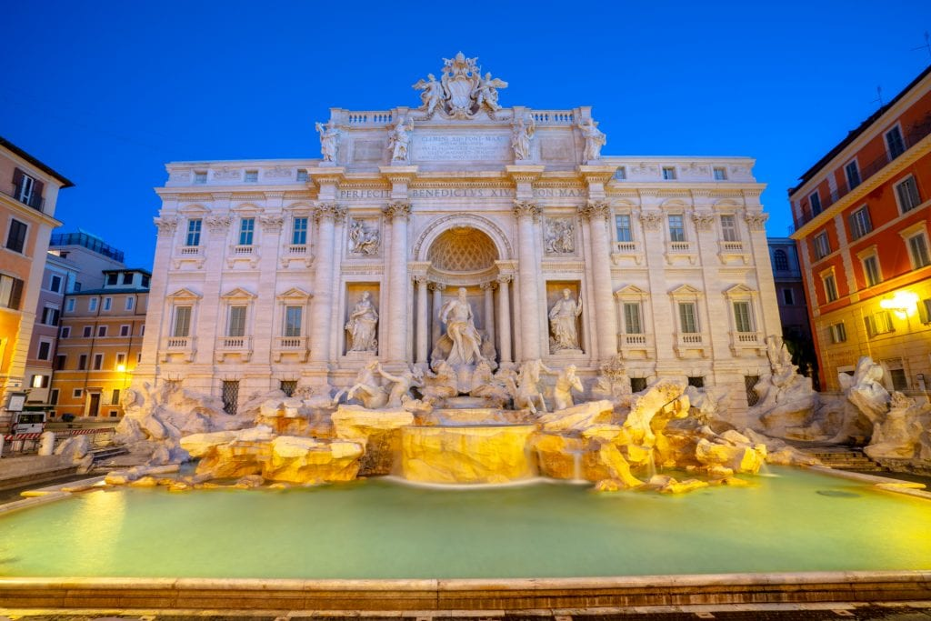 Trevi Fountain at Blue Hour: What to Do in Rome at Night