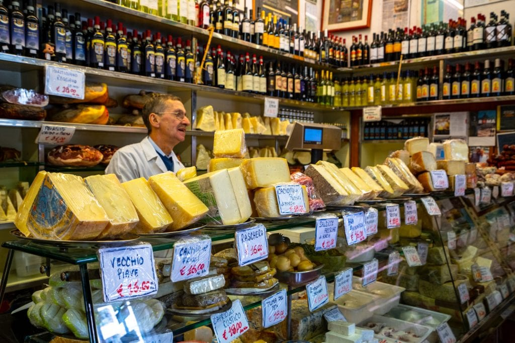 Trastevere Food Tour: Man in Cheese Shop