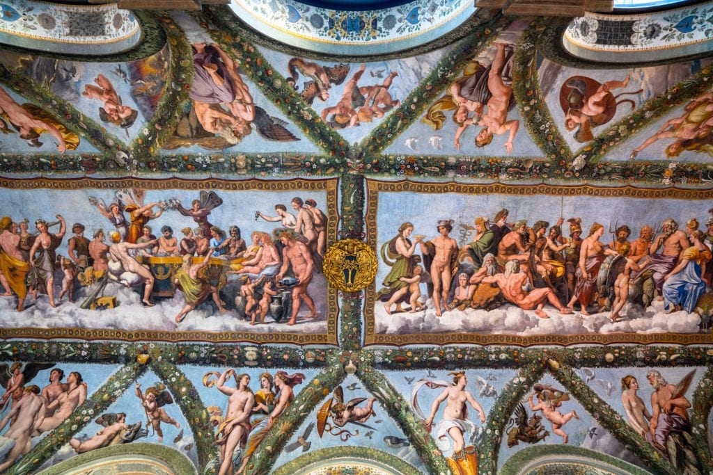 Fresco by Raphael in Villa Farnesina, Most Instagrammable Spots in Rome