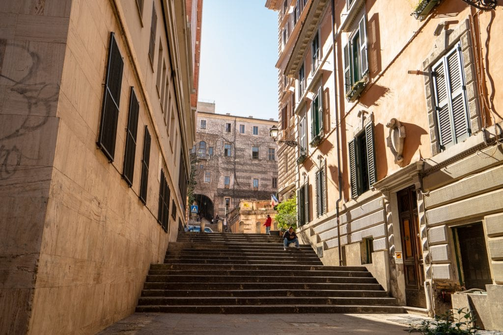Staircase in Monti: Most Instagrammable Places in Rome