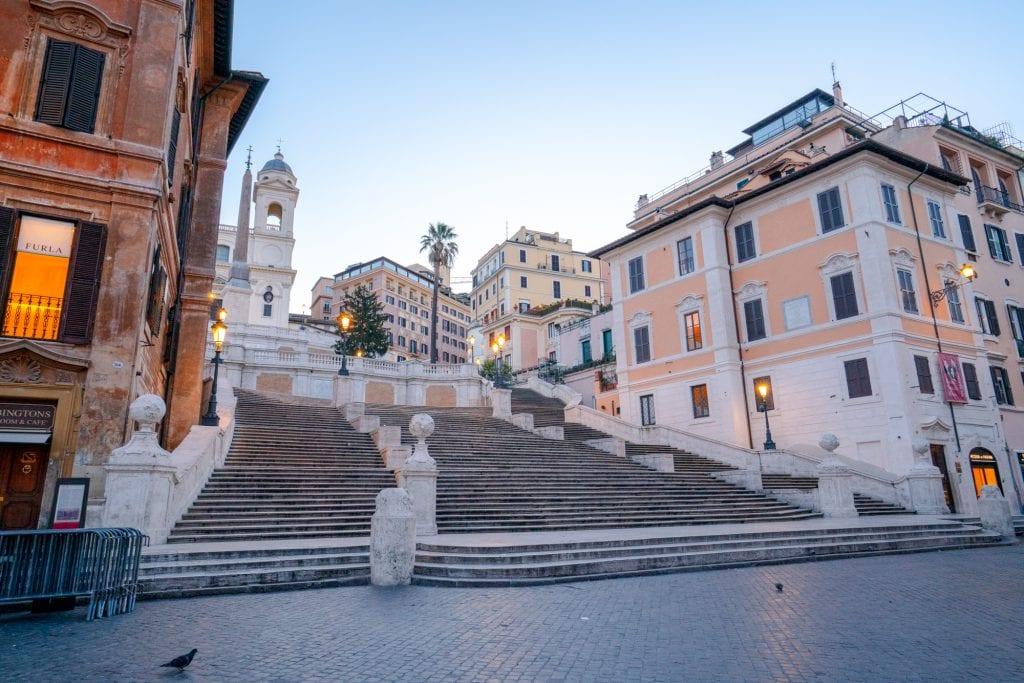 Piazzas in Rome: Piazza di Spagna at Dawn