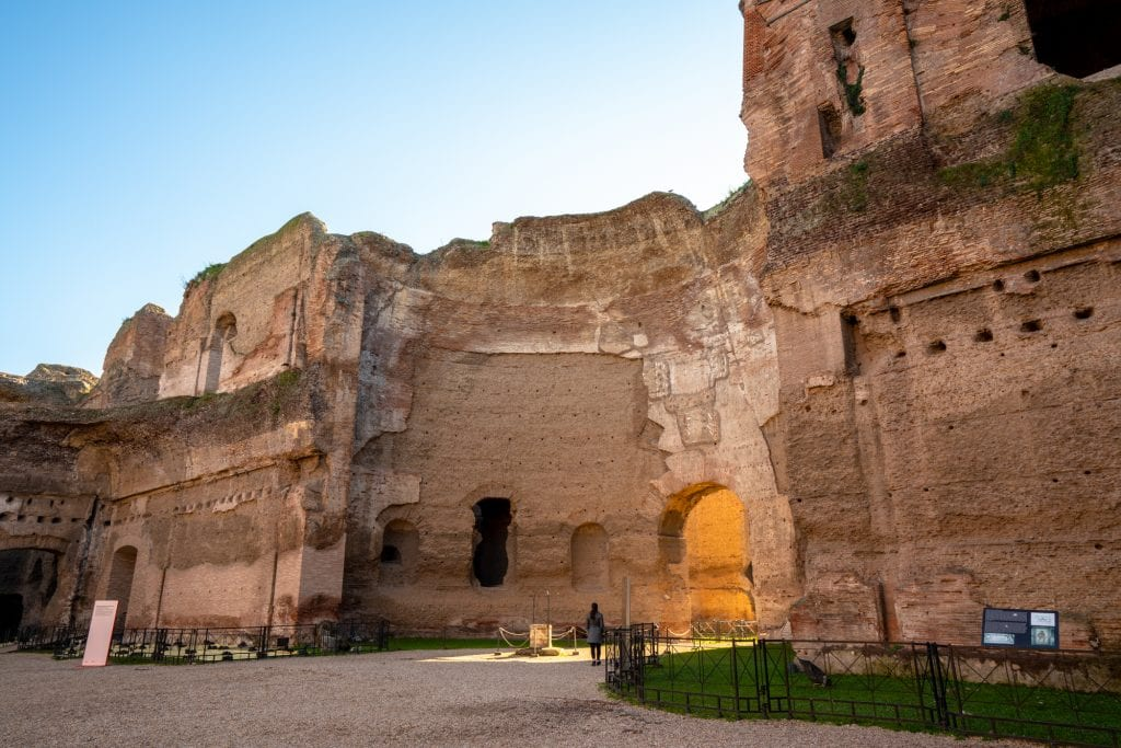 Rome off the beaten path: Ruins of the Baths of Caracalla