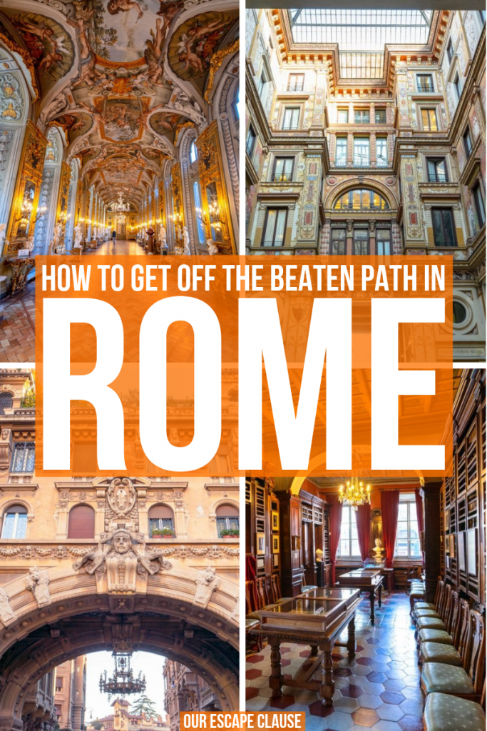 Looking for hidden gems in Rome? We've rounded up the best ones here--plus included a map to find them! #rome #italy #hiddengems #offbeatrome