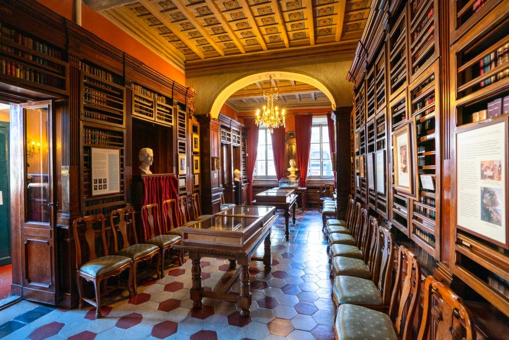 Rome off the beaten path: LIbrary at the Keats-Shelley Memorial House