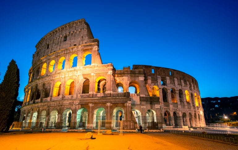 Colosseum at Blue Hour: What to Do in Rome at Night