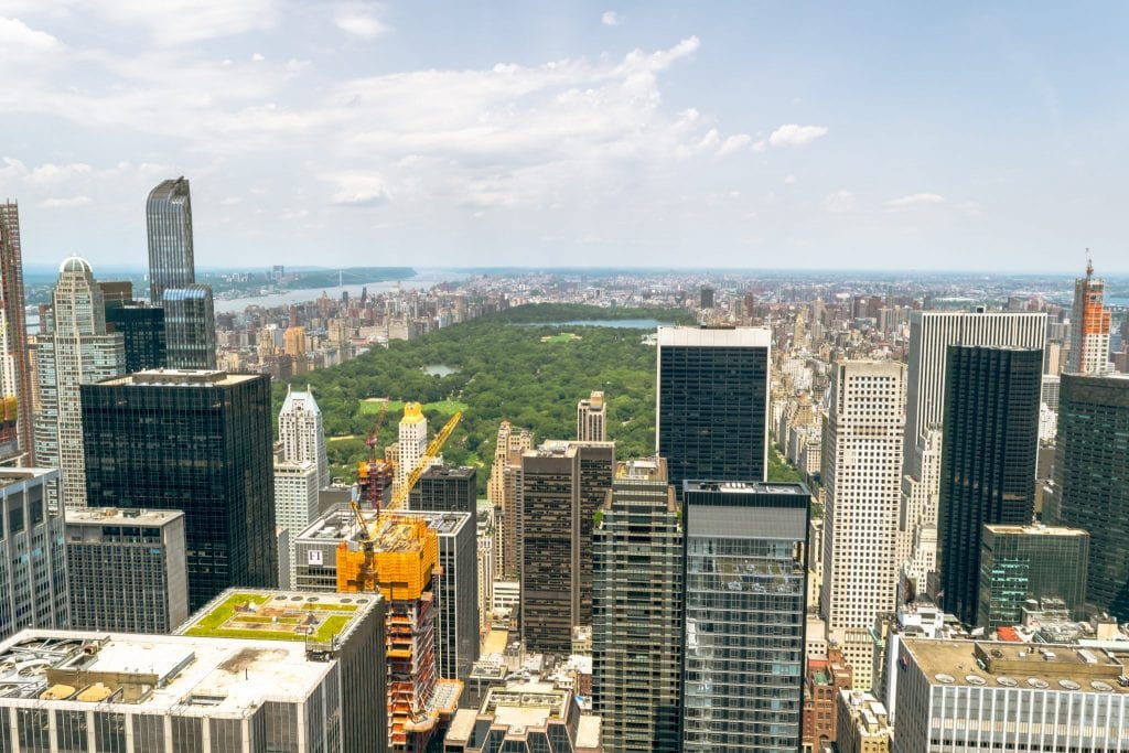 Top of the Rock or Empire State Building: view of Central Park from Top of the Rock