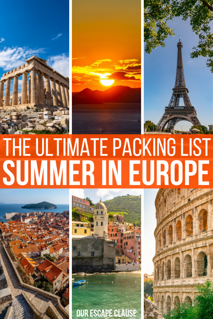The Ultimate Packing List for Europe Summer