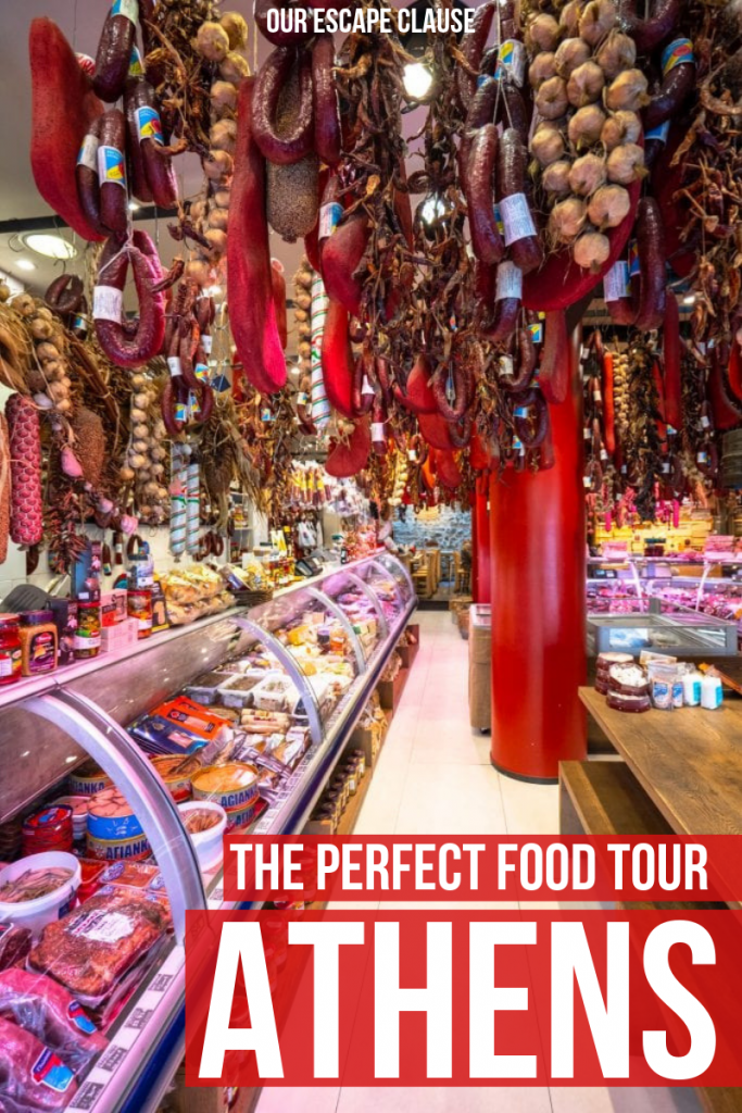 The Perfect Athens Food Tour: Pin for Pinterest with text