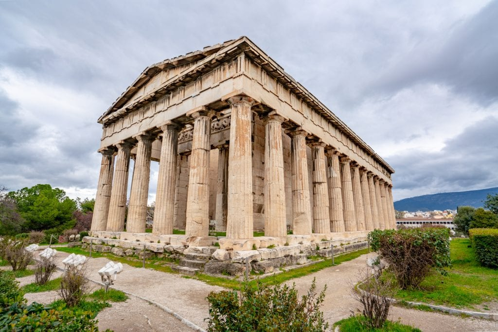 Temple of Hephaestus in Ancient Agora, Athens in 2 days itinerary