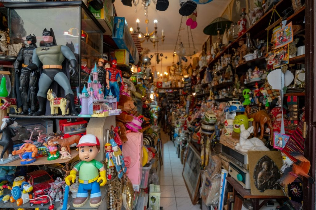Interior of electic shop in Monastiraki Flea Market, 2 days in Athens itinerary