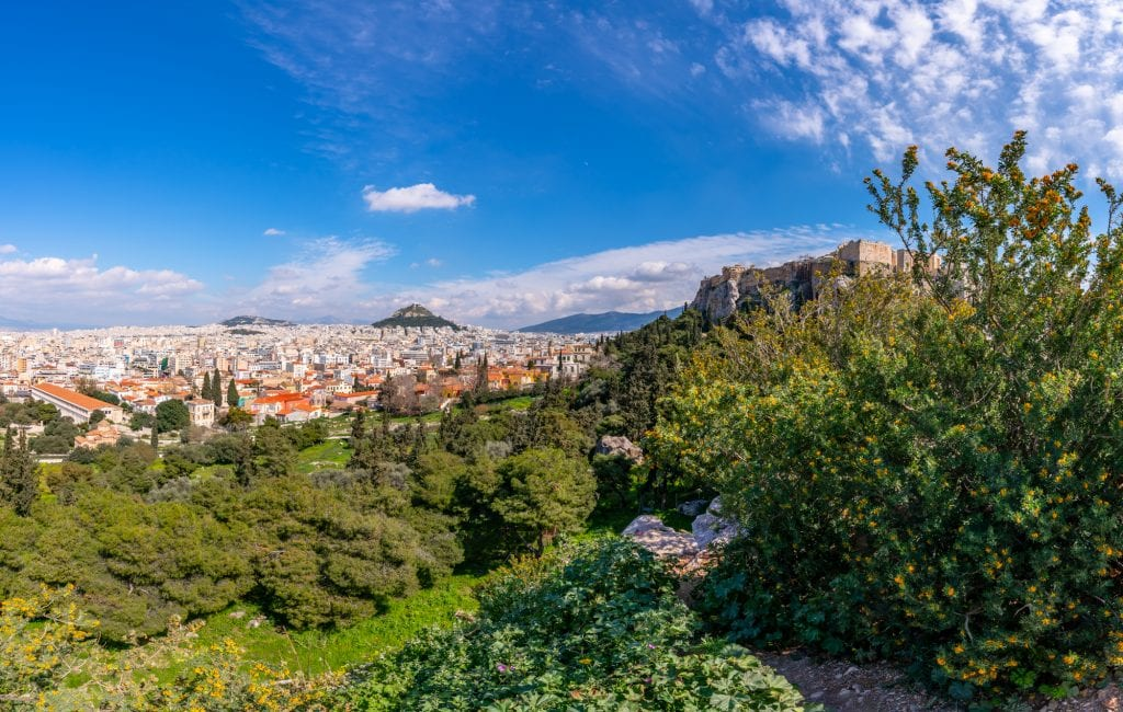 View of Athens from Mars Hill, two days in Athens itinerary