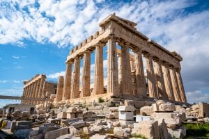 Athens Parthenon--if your dream trip includes this view, your choice between visiting Greece or Croatia is clear!