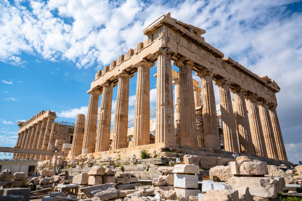 Athens Parthenon--this structure tops all kinds of bucket lists, and is a worthy addition to any 2 week Europe trip!