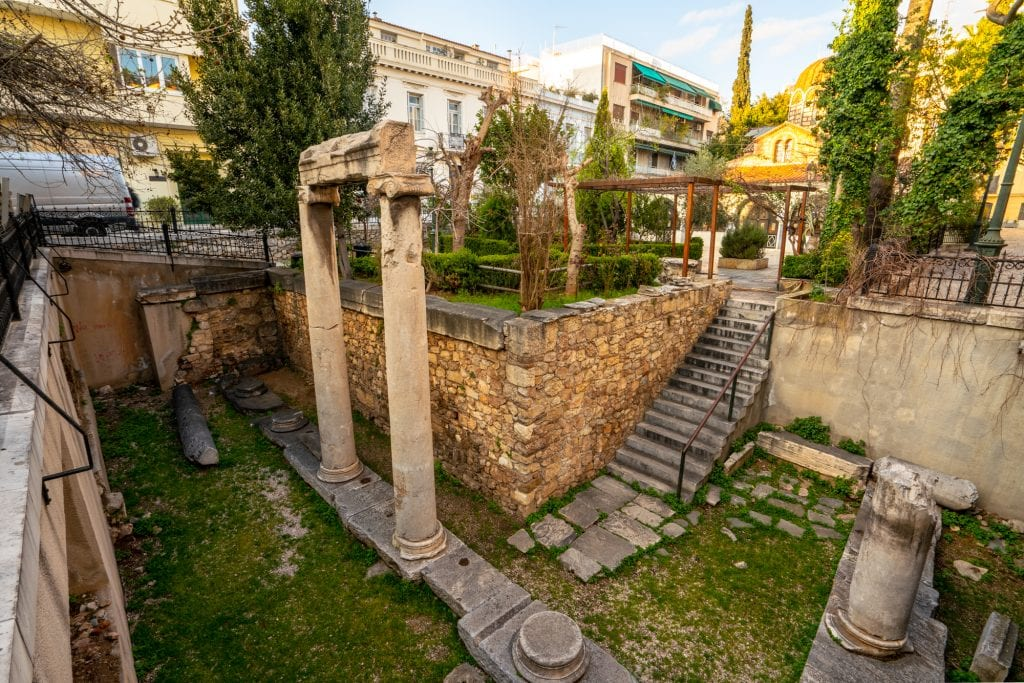 Ruins in Plaka neighborhood, 2 days in Athens itinerary