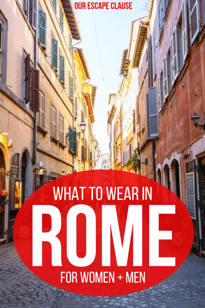 What to Wear in Rome: The Complete Seasonal Fashion Guide for Men + Women #rome #italy #romefashion #italypacking #italypackinglist #romeclothes #romepacking