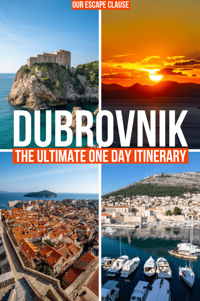 The Ultimate One Day in Dubrovnik Itinerary #dubrovnik #croatia