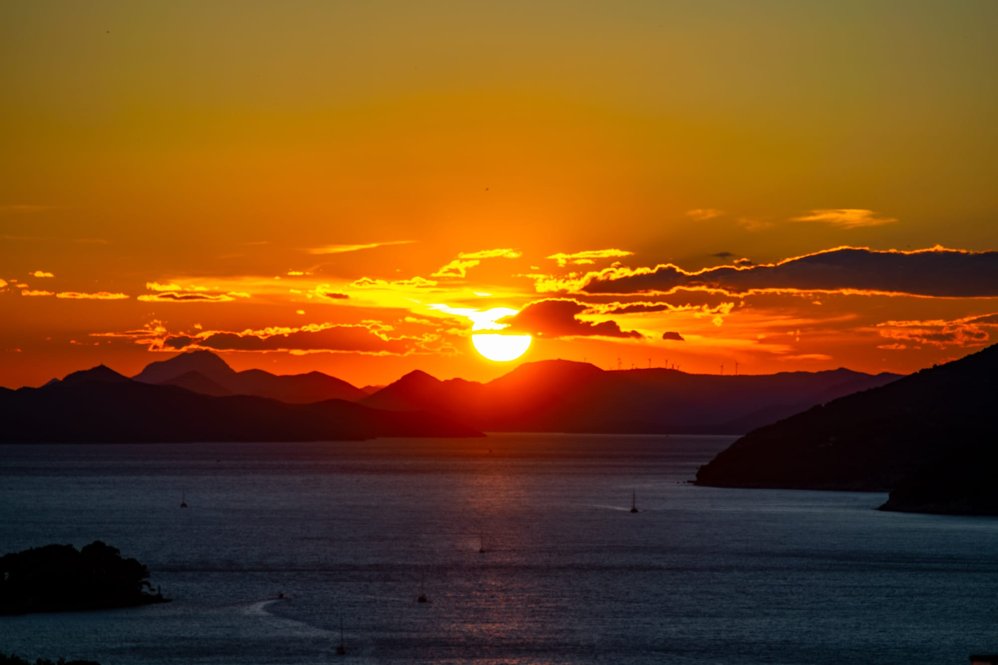 What to Do in Dubrovnik: Sunset in Dubrovnik Croatia