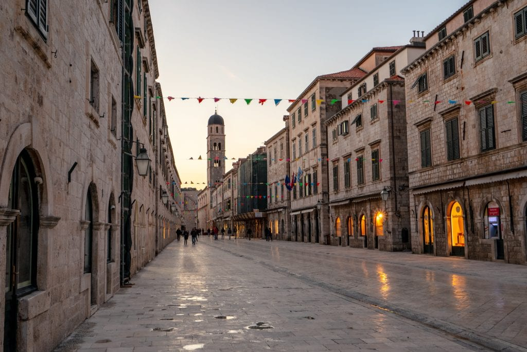 Fun Things to Do in Dubrovnik Croatia: View of the Stradun