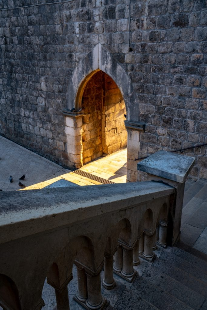 Fun Things to Do in Dubrovnik Croatia: Photo of interior of Pile Gate