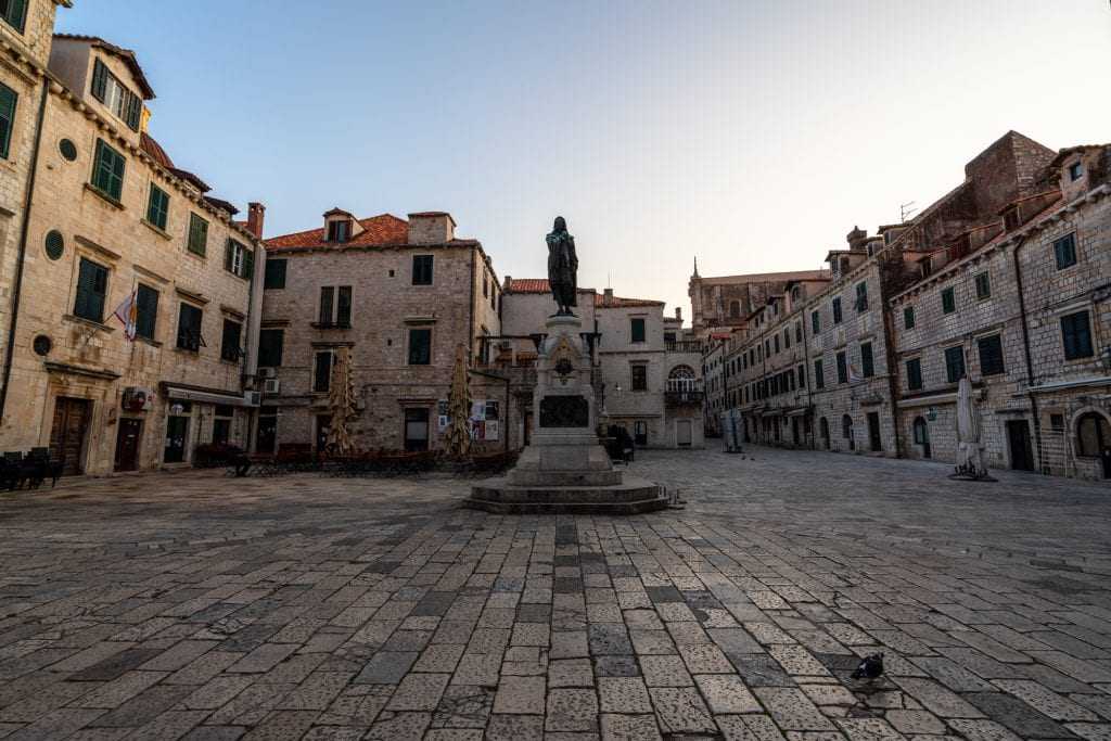 Fun Things to Do in Dubrovnik Croatia: Empty Square in early morning