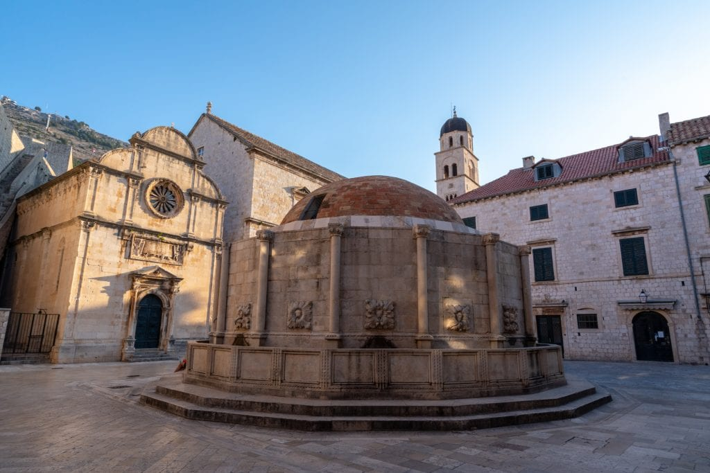 Fun Things to Do in Dubrovnik Croatia: Square with Round Fountain