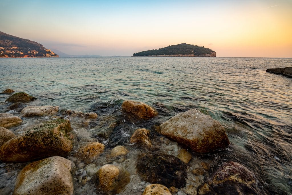 One Day Dubrovnik Itinerary: Sunset over Lokrum Island