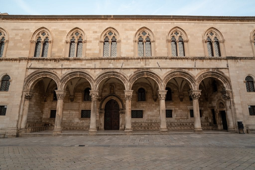 What to Do in Dubrovnik Croatia: Front of Rector's Palace