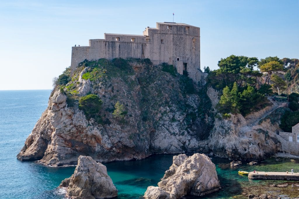 One Day in Dubrovnik Itinerary: Close Up of Lovrijenac Fortress