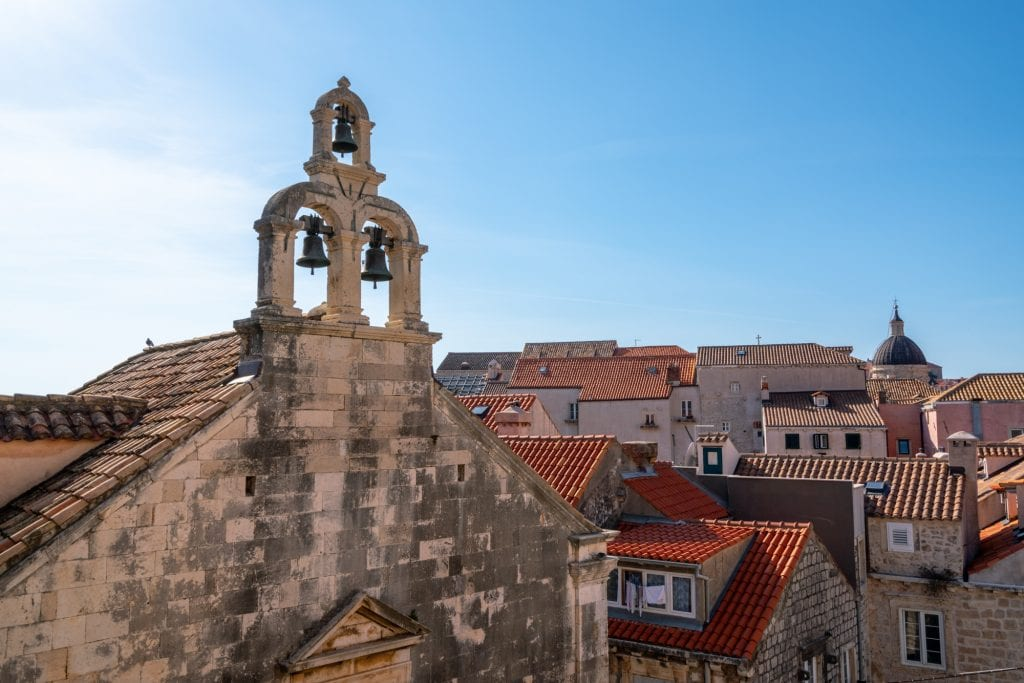 One Day Dubrovnik Itinerary: View of Church Bells in Dubrovnik