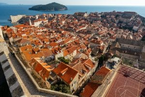 Fun Things to Do in Dubrovnik Croatia: view of Old Town from Minceta Fortress