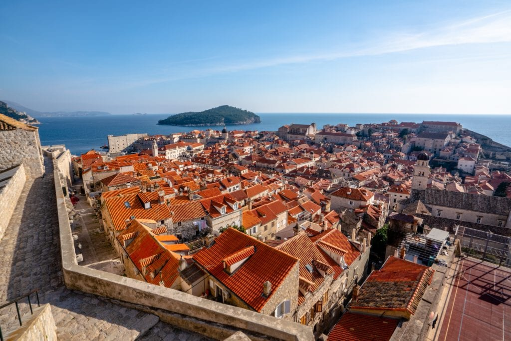 One Day Dubrovnik Itinerary: View of Dubrovnik from Minceta Fortress