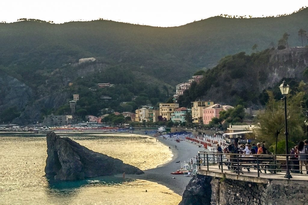 Monterosso al Mare at sunset, Best Beach Towns in Italy