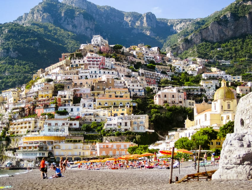 Hills of Positano, one of the best beach towns in Italy
