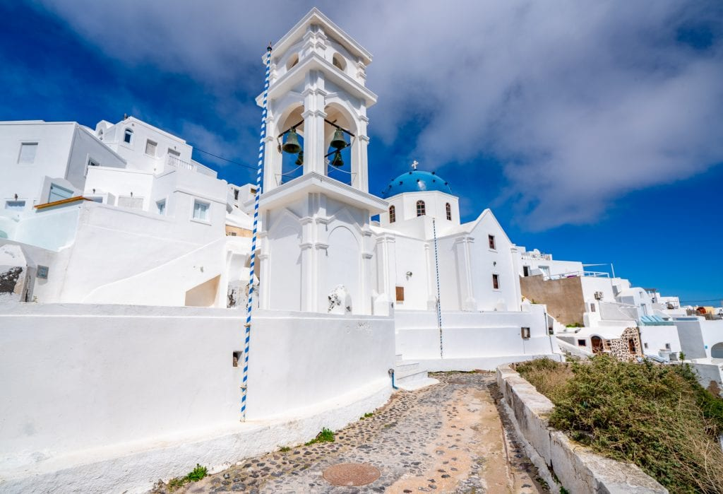 White church on Santorini, 3 day Santorini itinerary