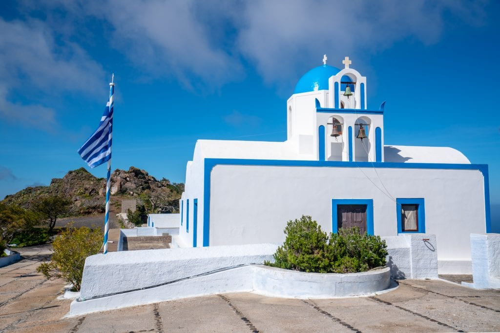 Blue and white church in Santorini, Santorini Honeymoon