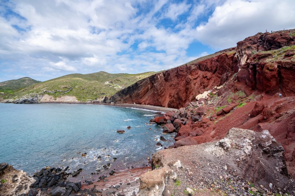 Red Beach seen from the side, 3 Days in Santorini Itinerary