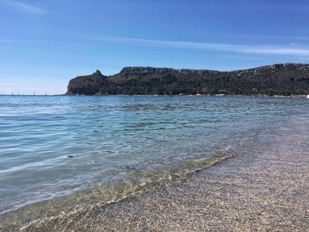 Sella del Diavolo dal Poetto, one of the prettiest beach towns in Italy
