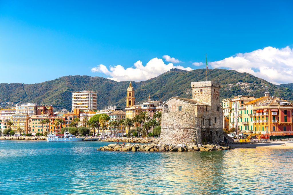 rapallo liguria as seen from the water