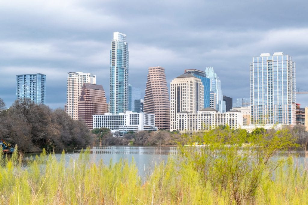 Austin Texas skyline, one of the most popular day trips from San Antonio Texas