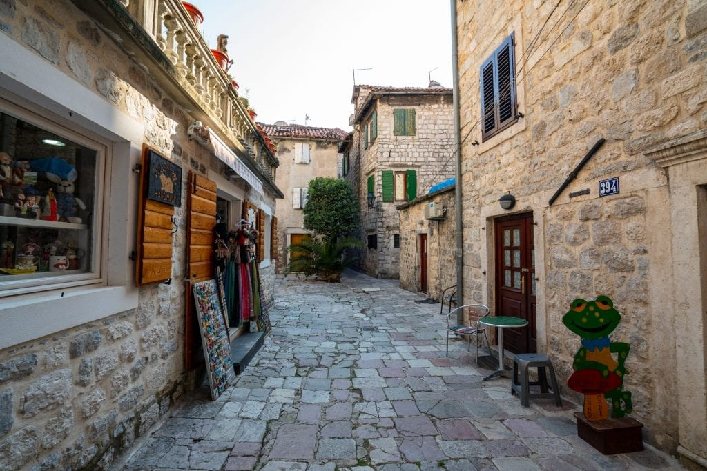 Empty Street in Kotor's Old Town: Best Things to Do in Kotor Montenegro
