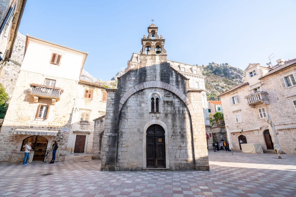 St. Luka's Church seen from the front, What to Do in Kotor Montenegro