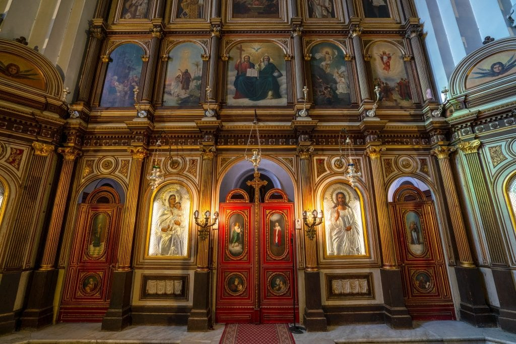 Interior of St Nicholas' Church in Kotor, Fun Things to Do in Kotor Montenegro