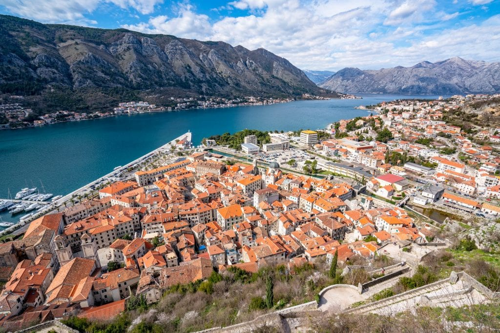 View of Kotor from San Giovannis' Fortress, Best Things to Do in Kotor Montenegro