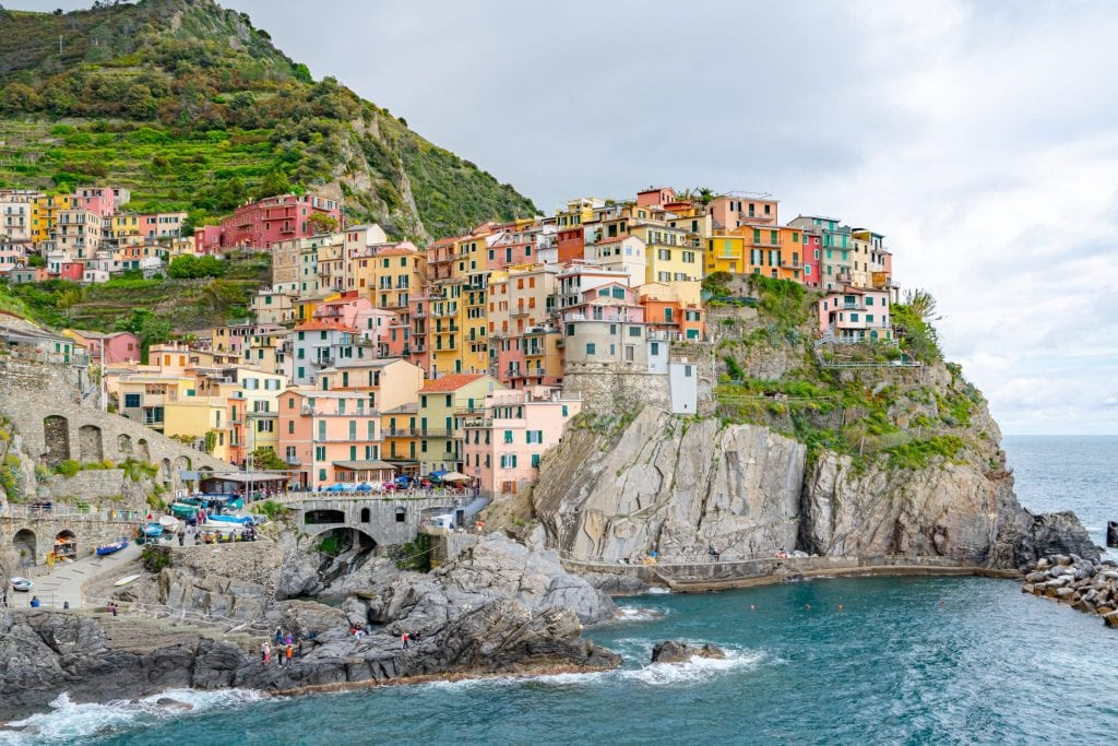 View of Manarola Harbor, Cinque Terre