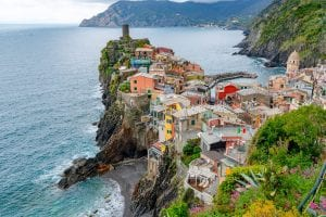 Photo of Vernazza from above, Cinque Terre or Amalfi Coast