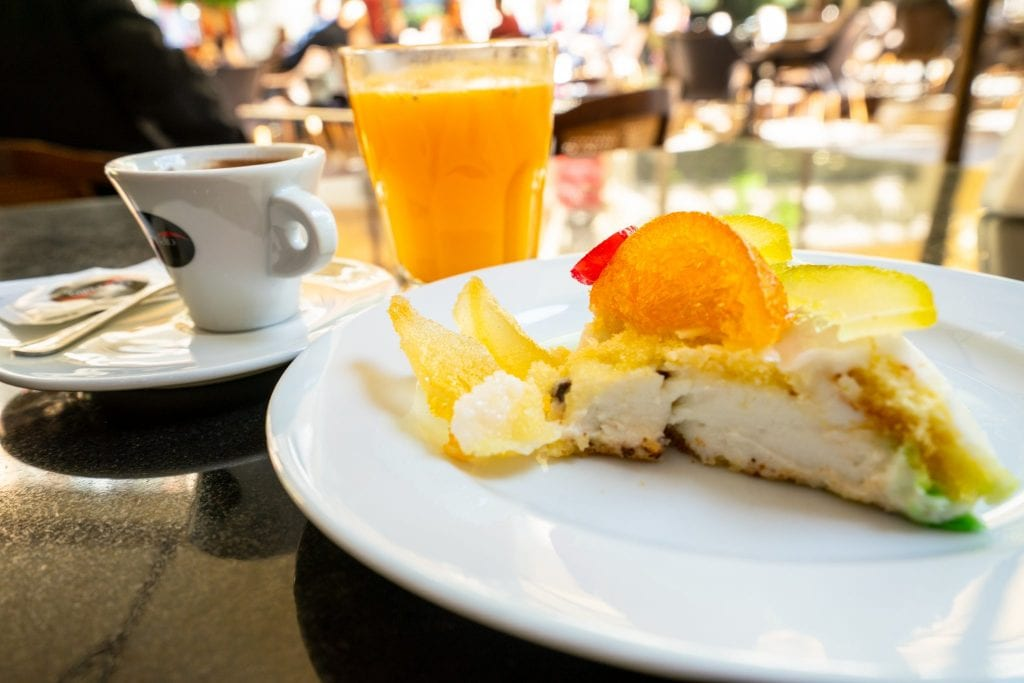 Coffee and cassata at Antico Caffe Spinnato: Best Things to Do in Palermo Sicily