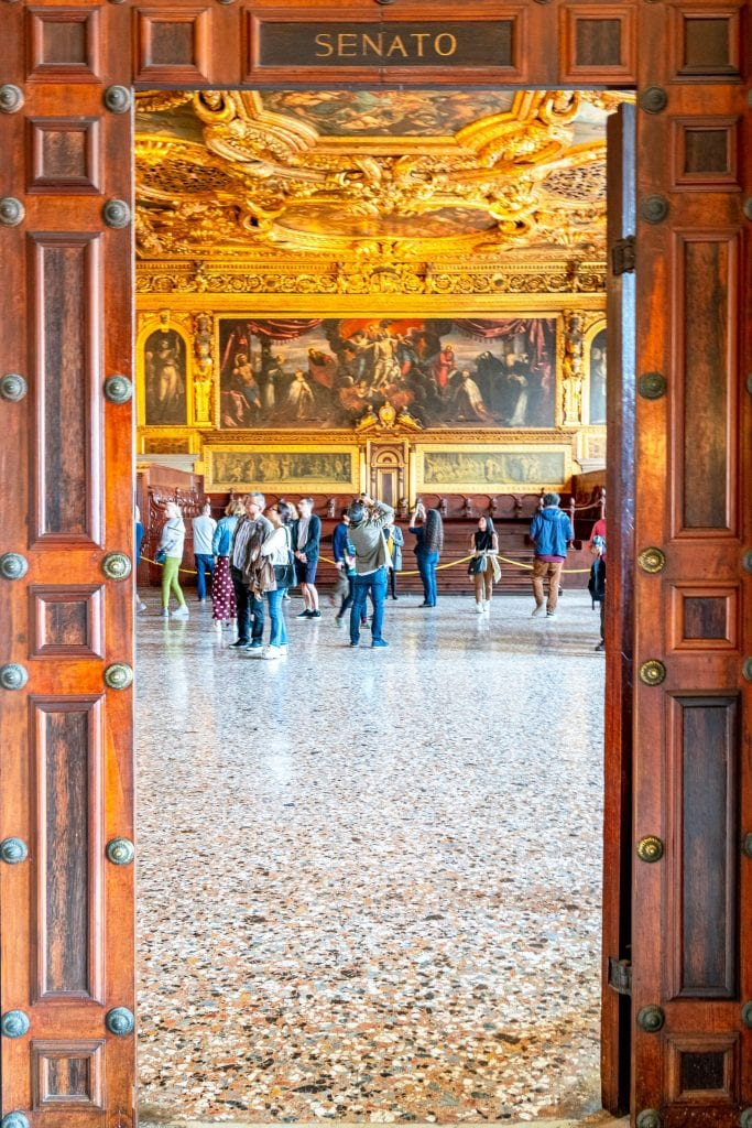 Entrance to Senate Chamber in Doge's Palace, to be visited during this 2 Day Venice itinerary